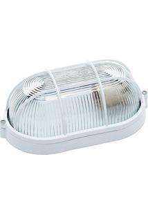 Luminária Tartaruga Branca 21Cm Com Grade Fc3 Biancoluce