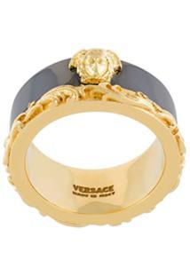 Versace Anel Barocco Border - Metálico