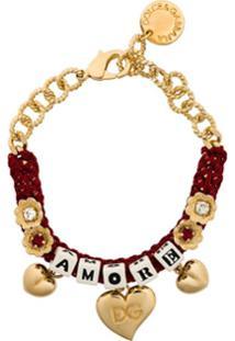 Dolce & Gabbana Pulseira Trançada 'Amore' - Vermelho