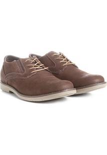 Sapato Casual Couro Kildare Com Cadarço Masculino - Masculino-Café