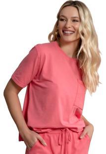Camiseta Feminina Biamar Com Bolso - U