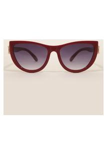 Óculos De Sol Feminino Gatinho Yessica Vinho