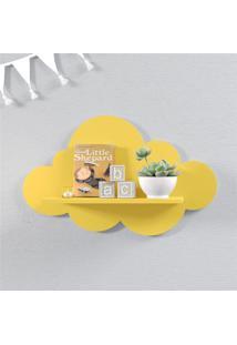 Prateleira Nuvem Amarela Mdf M 45Cm Grão De Gente Amarelo