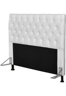 Cabeceira Cama Box Casal 140Cm Cristal Corino Branco - Js Móveis