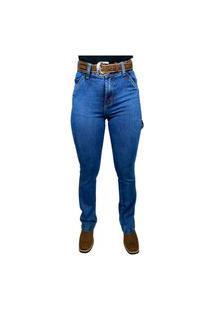 Calça Jeans Feminina Carpinteira Badana