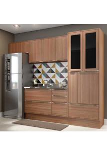 Cozinha Completa Multimã³Veis Com 6 Peã§As Calã¡Bria 5453R Nogueira - Incolor/Marrom - Dafiti