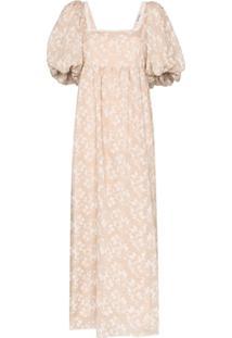 Masterpeace Vestido Longo Floral - Neutro