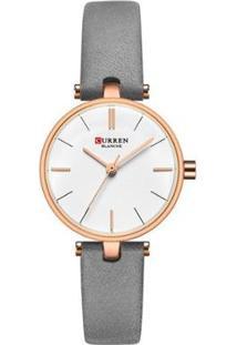 Relógio Curren Analógico C9038L Feminino - Feminino-Cinza
