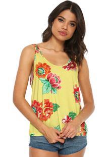 Regata Sommer Comfort Estampada Amarelo