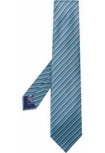 Brioni Gravata Listrada - Azul