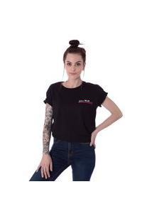 Camiseta Unissex Operarock Jeans Wear Preto