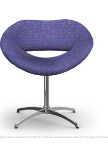 Cadeira Beijo Colmeia Rosa E Lilás Poltrona Decorativa Com Base Giratória
