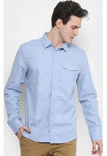 Camisa Forum Smart Bolso Botão - Masculino