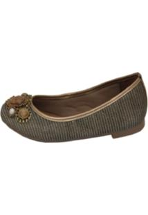 Sapatilha Cristhi Shoes Metal Veneza Bronze