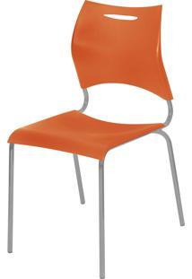 Cadeira Plã¡Stica New Laranja Giobel - Laranja - Dafiti
