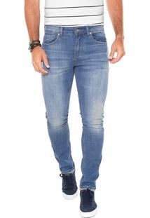 Calça Jeans Lacoste Skinny Bolsos Azul