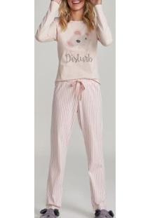 Conjunto Pijama Com Amor Feminino - Feminino-Rosa