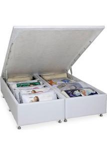 Cama Box Queen Size Com Baú Bianco, Branca