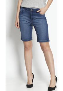 Bermuda Jeans - Azul - Dudalinadudalina