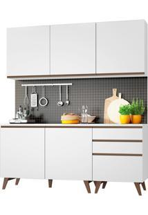 Cozinha Compacta Madesa Reims Com Balcã£O - 5 Portas 3 Gavetas Branco - Branco - Dafiti