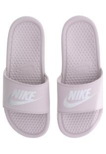 Chinelo Nike Benassi Jdi - Slide - Feminino - Rosa/Prata