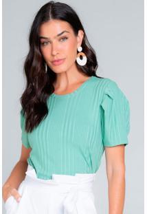 Blusa Feminina Canelada Verde