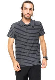 Camisa Polo Oakley Reta Cold Striped Cinza