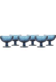 Jogo De Taças Sobremesa Azul 6 Peças - Hauskraft