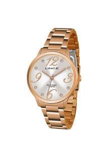 Relógio Lince Feminino Strass Analógico Dourado Lrrh136L-S2Rx