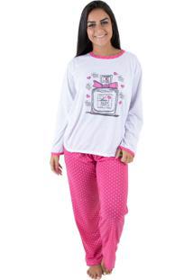 Pijama Linha Noite Longo Pink - Kanui
