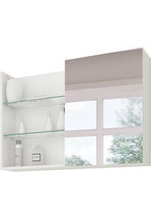 Armário De Banheiro Jasmin Com Espelho 1 Pt Branco 80 Cm