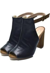 Ankle Boot Dududias10 Feminina - Feminino-Preto