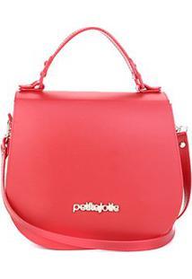 Bolsa Petite Jolie Flap Saddle Feminina - Feminino-Vermelho