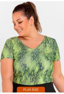 Blusa Mc Estampada Verde