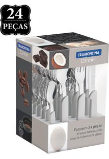 Faqueiro Tramontina Carmel 24 Peã§As Branco - Branco - Dafiti