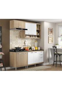 Cozinha Completa Multimóveis Com 5 Peças Sicília 5811 Argila/Branco