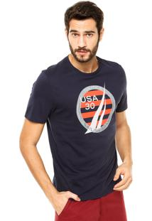Camiseta Nautica Classic Fit Water Azul Marinho