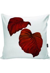 Capa Para Almofada Impermeável- Branca & Vermelha- 4Stm Home