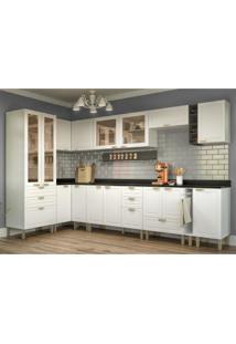 Cozinha Completa 13 Peças Americana Multimóveis 5646 Branco/Grafite