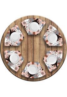Jogo Americano Love Decor Para Mesa Redonda Wevans Modern Christmas Kit Com 6 Pçs