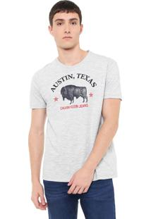 Camiseta Calvin Klein Jeans Austin Cinza