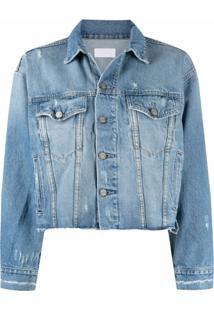Boyish Jeans Jaqueta Jeans Com Efeito Destroyed - Azul