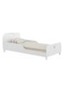 Cama Solteiro Com Colchão Incluso 88 X 188 Cm 100% Mdf Realeza Multimóveis Branco