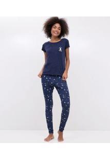 Pijama Manga Curta Estampado