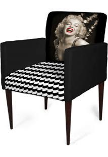 Cadeira Decorativa Mademoiselle Plus Imp Digital (2 Peças) Imp Digital 102 Marilyn