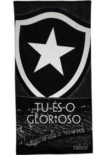 Toalha De Banho Bouton Veludo Botafogo - Unissex