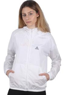 Jaqueta Corta Vento Feminin Additive Logo Branca