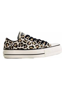 Tênis Converse All Star Chuck Animal Print Platform Lift Bege Amendoa Ct13090001 - Kanui