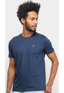 Camiseta Ellus Lisa Masculina - Masculino-Marinho