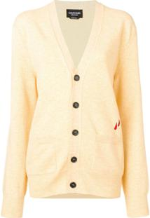 Calvin Klein 205W39Nyc V-Neck Button Cardigan - Amarelo
